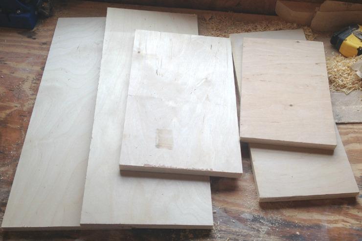 Scrap wood DIY Cleaning Caddy