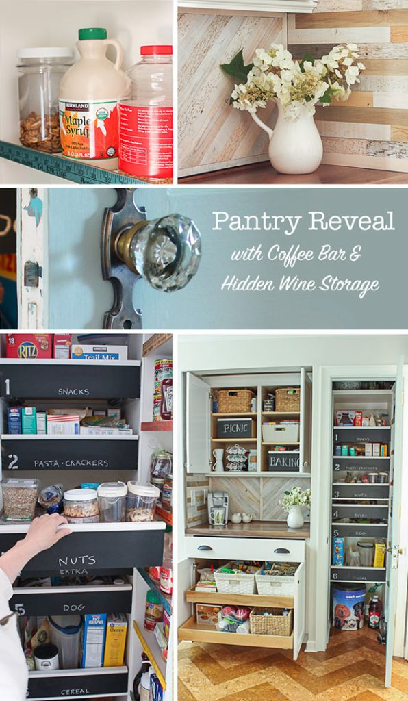 Hidden Wine Storage at Back of Countertop | Pretty Handy Girl