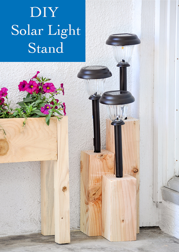 How to make an easy solar light stand