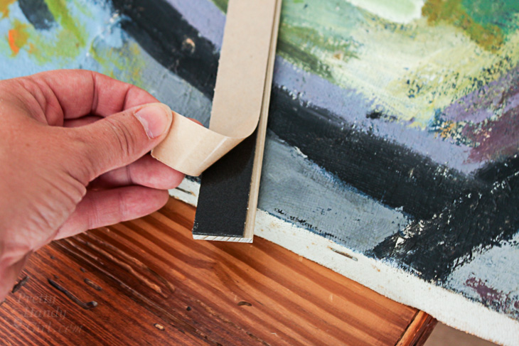 How to Quickly and Easily Frame Canvas Art   Pretty Handy Girl