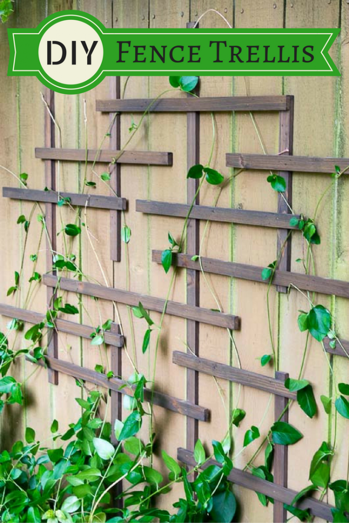Diy Fence Diy Fence Trellis Pretty Handy Girl