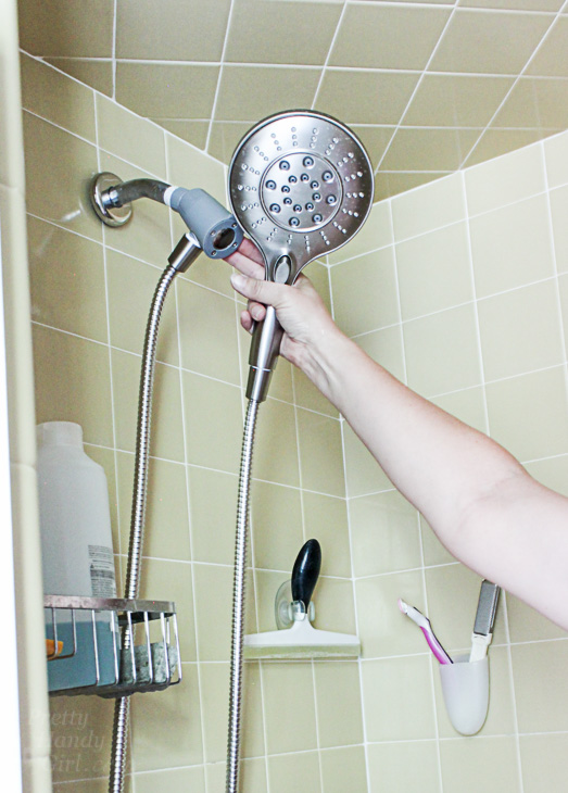 Perfect Showerhead for a Small Shower - Pretty Handy Girl
