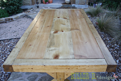 How to Build a Chunky X Farmhouse Table