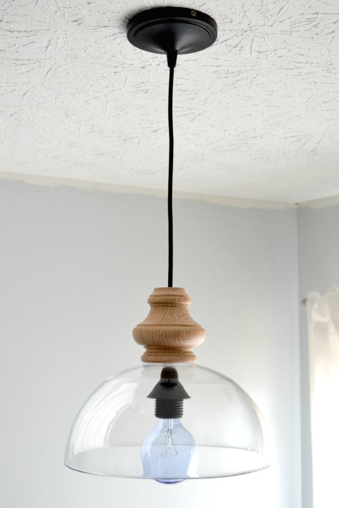 Glass Bowl Fixture - Best Lighting DIYs - Pretty Handy Girl
