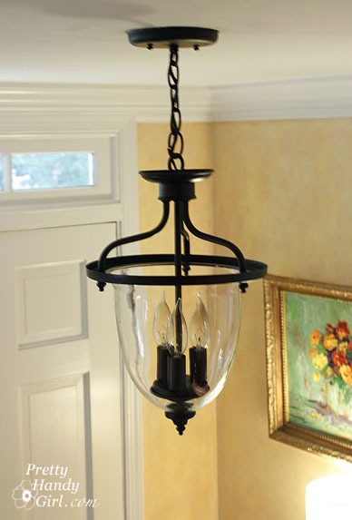 New Painted Foyer Light Fixture
