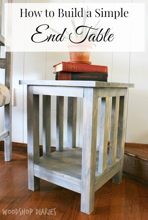 DIY Side Table Plans Pretty Handy Girl