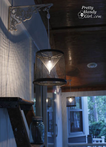 Minnow Trap Light Fixture - Best Lighting DIYs - Pretty Handy Girl