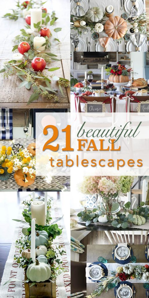 21 Beautiful Fall Tablescapes - Decorating Your Table for Fall