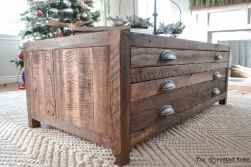 DIY Printmaker's Coffee Table by The Created Home
