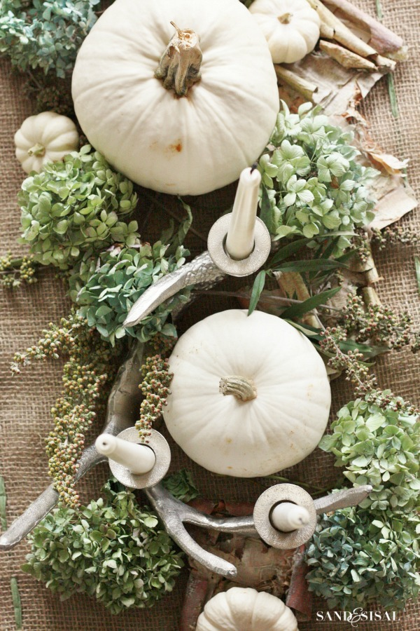White-Pumpkin-Centerpiece-Sand-and-Sisal