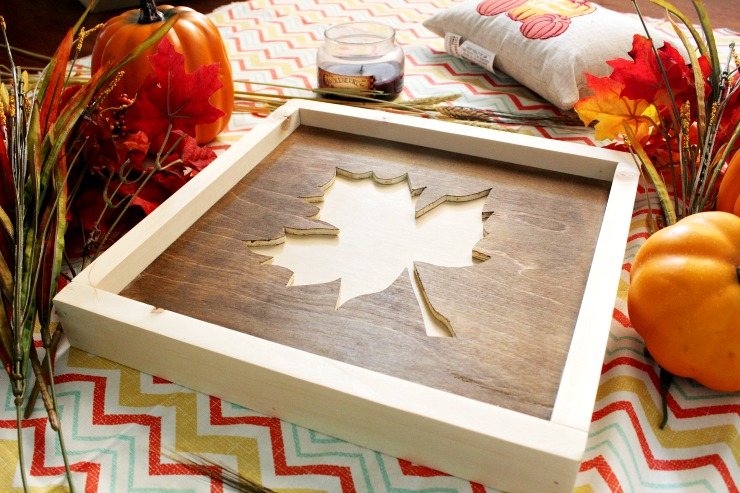 DIY Framed fall art from scrap wood