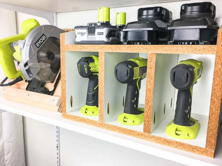Cordless Drill and Circular Saw Storage