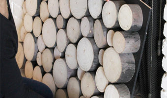 Wood Slice Fireplace Draft Stopper