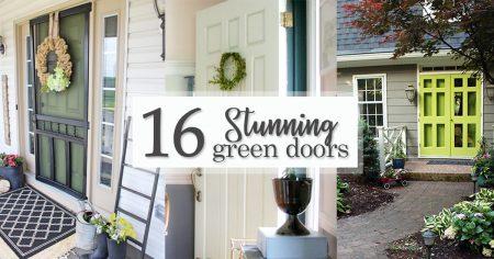 16 Stunning Green Doors - Social Media imag16e
