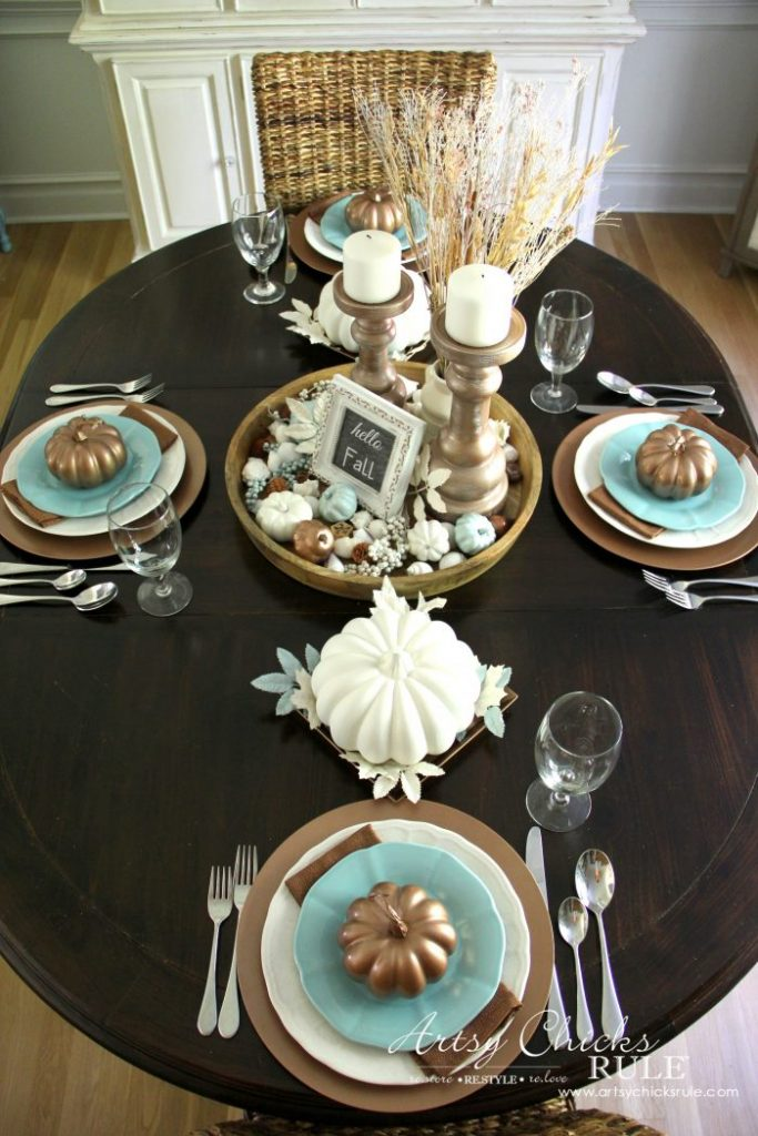 Coastal Casual Fall Tablescape Artsy Chicks Rule