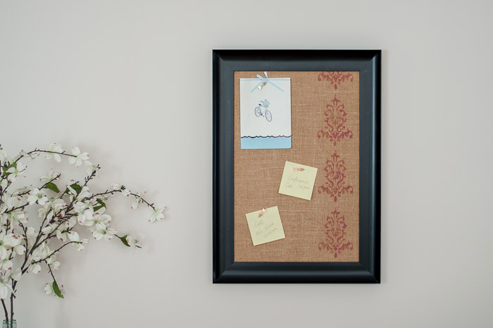 DIY Burlap Bulletin Board - Pretty Handy Girl