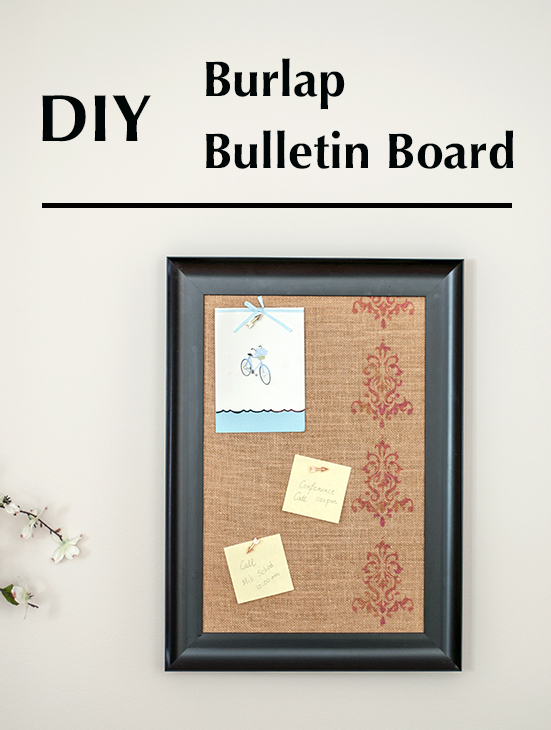 Diy Burlap Bulletin Board Pretty Handy Girl