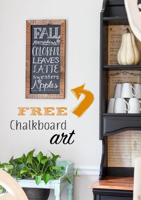 FREE Chalkboard Art Sign
