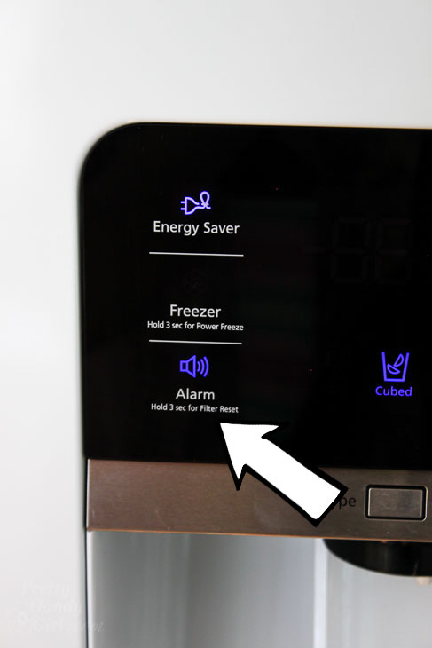 alarm button for water filter