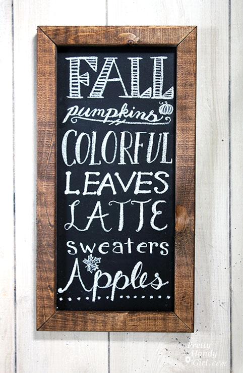 FREE: Fall Chalkboard Art Printable