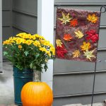 Fall Leaves Garden Flag using a Dollar Store Placemat