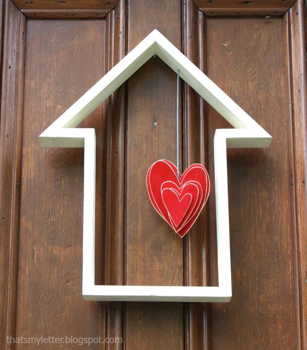 house shape door decor