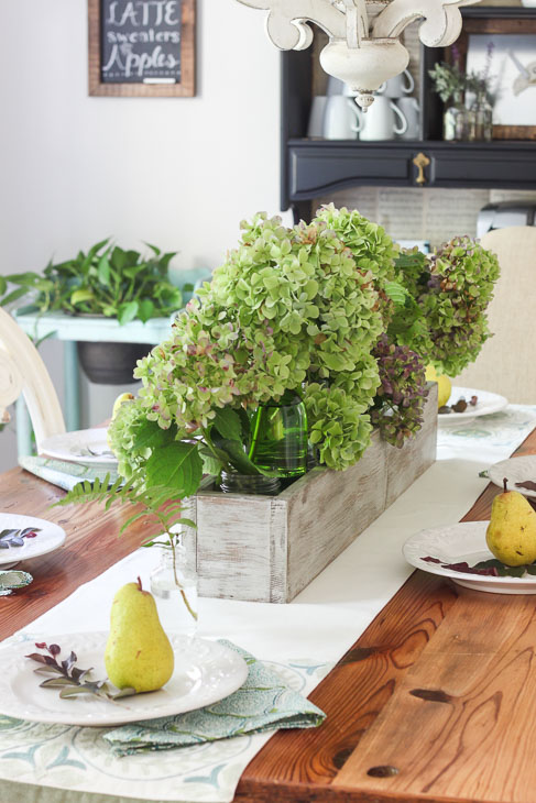 Rustic Trough Centerpiece : Fall tablescape and coffee bar pretty handy girl