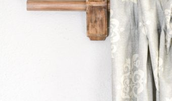 DIY Corbel Curtain Rod Holders