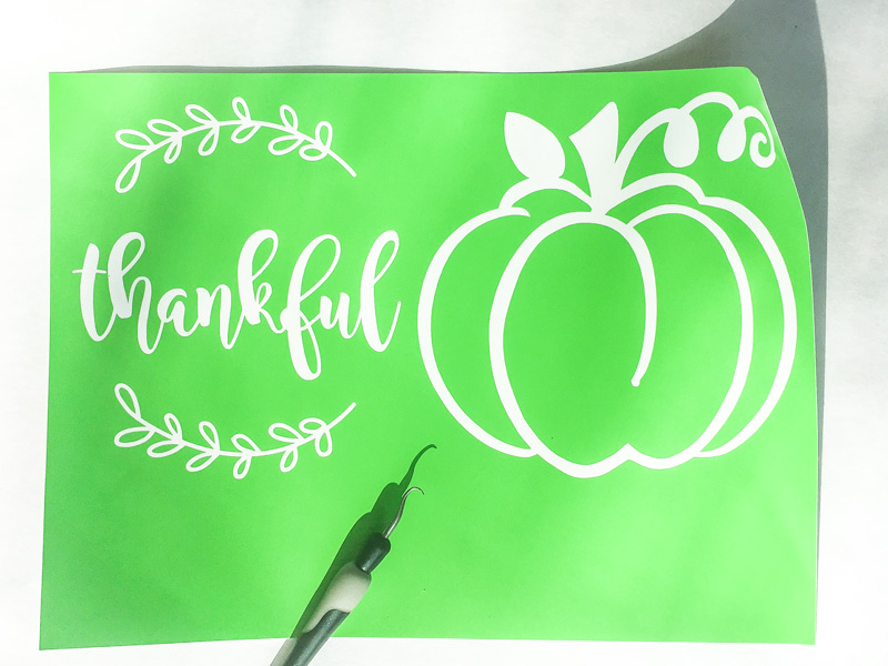 Create stencils with a cutting machine or make your own out of paper.