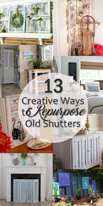 13 Creative Ways To Repurpose Old Shutters Pretty Handy Girl
