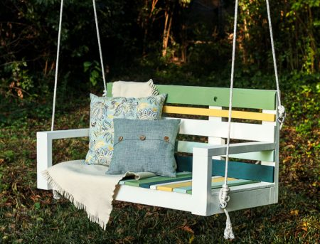 Building a Striped Porch Swing using Pallet Wood