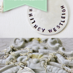 DIY stamped necklace made from a spoon