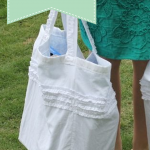 DIY reversible white tote bag