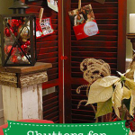 Shutters for Displaying Christmas Cards