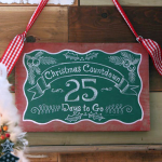chalkboard countdown to christmas sign