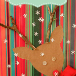 Creative Gift Wrapping Day #2 – Frosty and Rudolph Gift Wrap