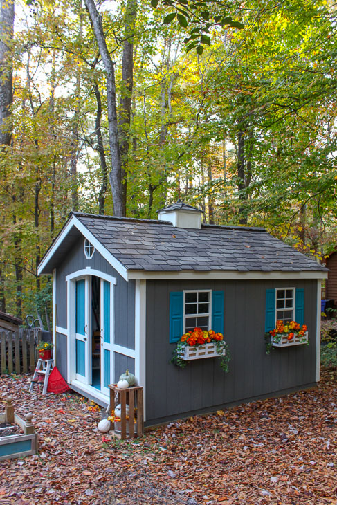 Custom Build A Cute Garden Shed Using A Shed Kit From Lowe S