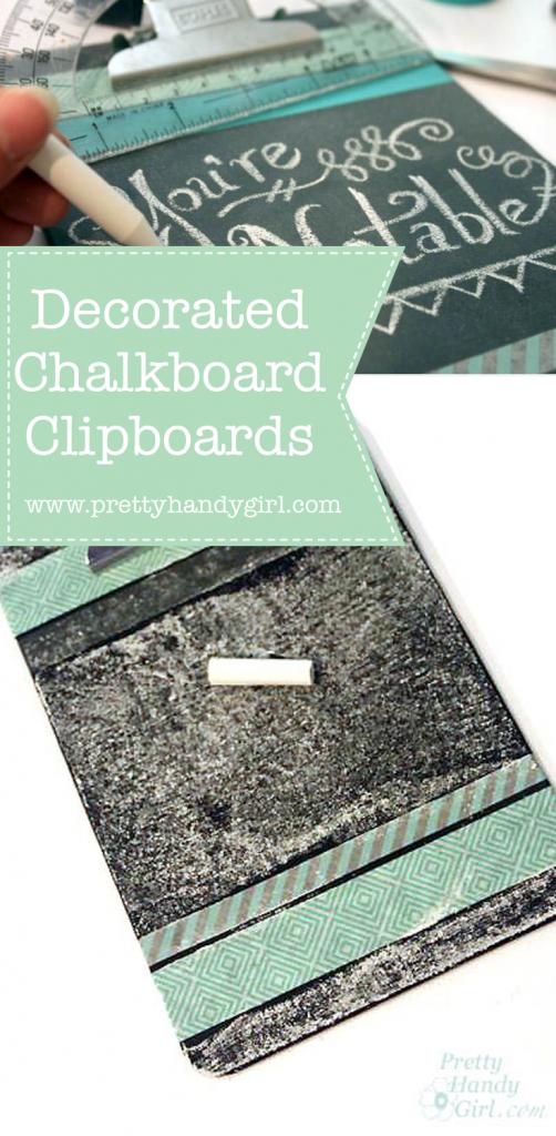 black chalkboard clipboard