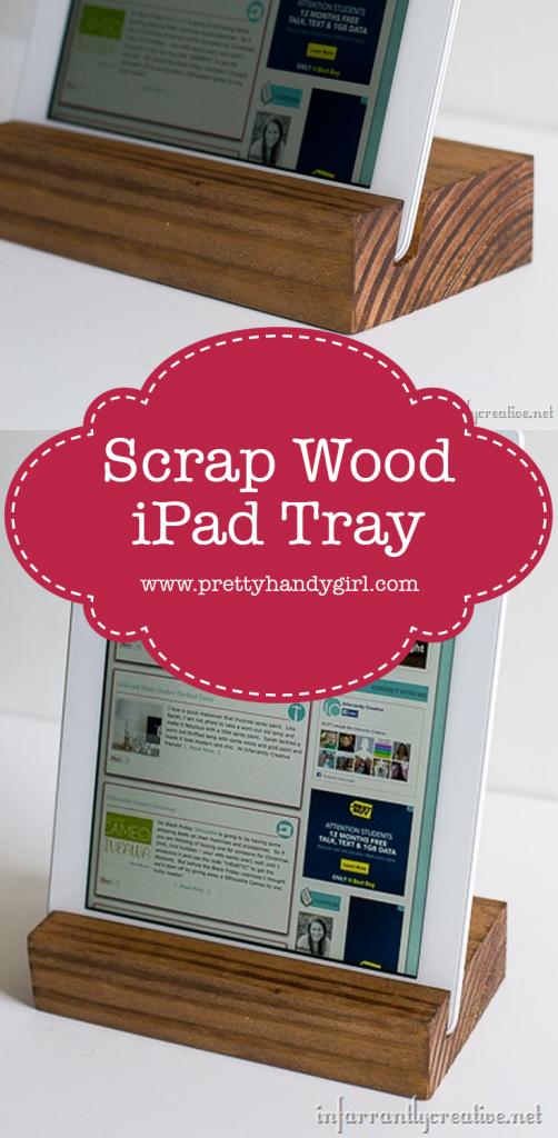 DIY wooden scrap wood ipad stand
