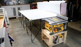 DIY Table Saw Stand and Collapsible Off Feed Table