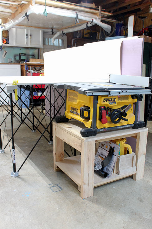 Table Saw Stand And Collapsible Out Feed Work Table Pretty Handy Girl