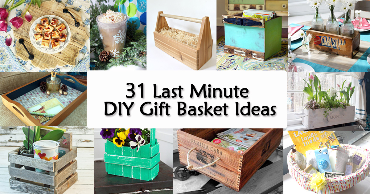 31 last minute diy gift basket ideas pretty handy girl negle Images