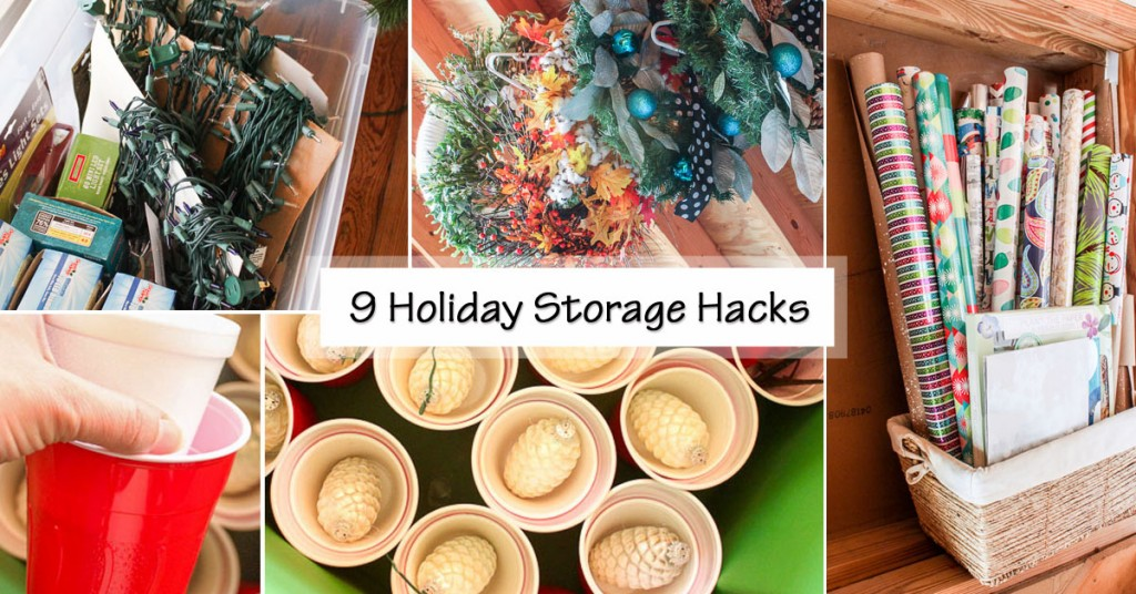 9 holiday storage hacks social media image