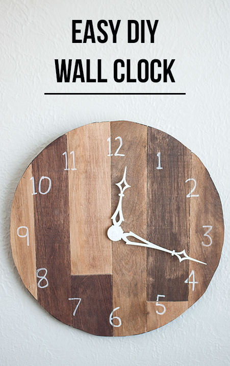 How To Make An Easy DIY Wall Clock