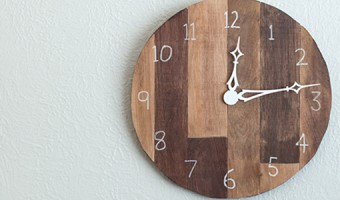 DIY Scrap Plywood Wall Clock