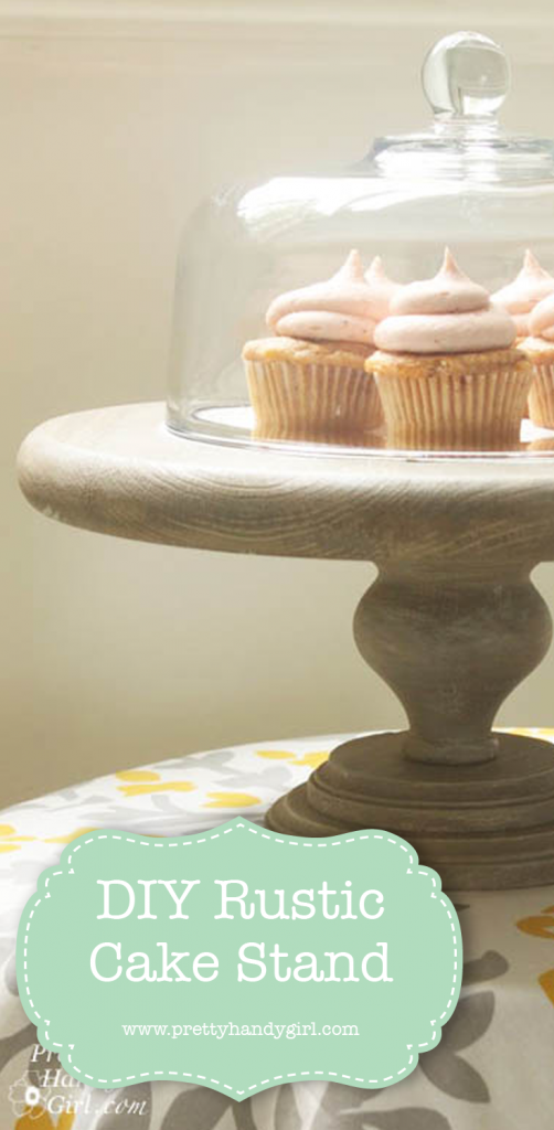 wooden cake stand with cupcakes
