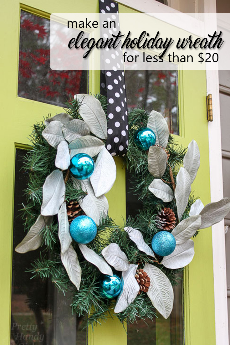 This tutorial will show you how to turn a simple, inexpensive wreath into a beautiful, elegant holiday wreath that would typically cost a lot more!