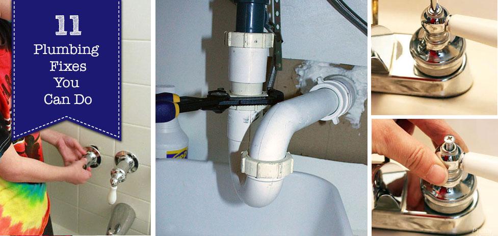 11 Plumbing Fixes You Can Do