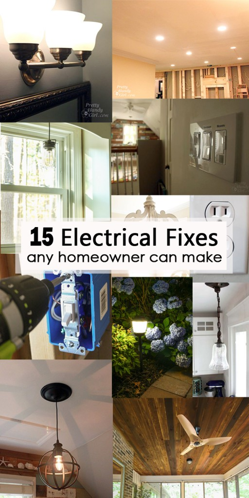 15 electrical fixes any homeowner can make pinterest image