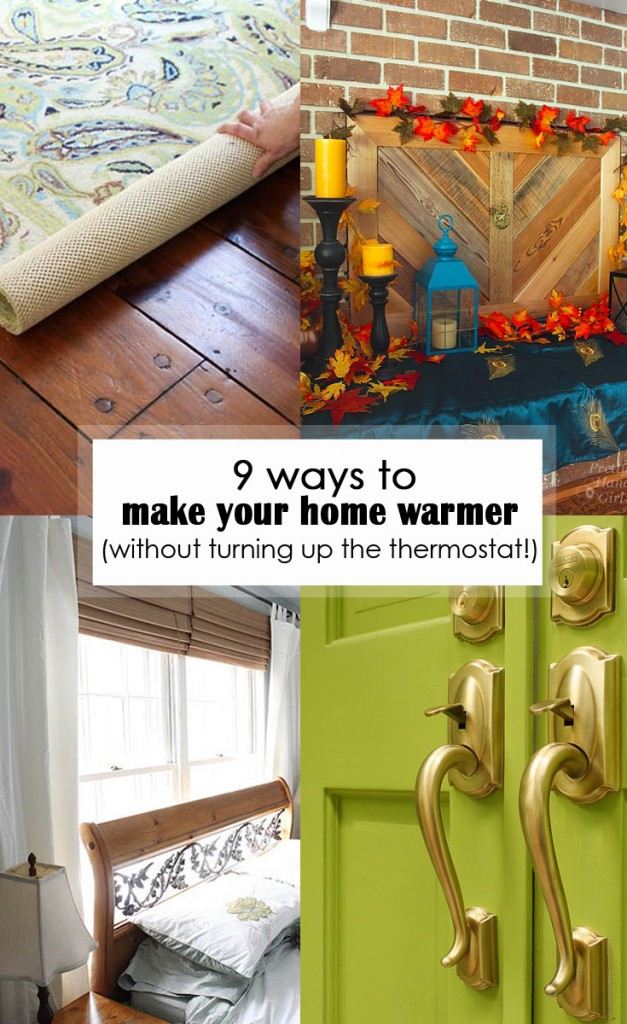 9 ways to make your home warmer pinterest image